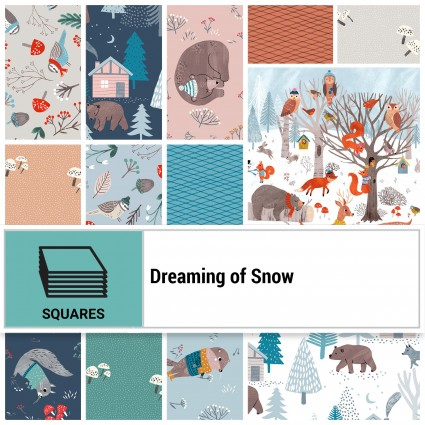 Clothworks Dreaming of Snow 10 Square Bundle