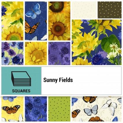 10 Inch Layer Cake TSQ0283 Sunny Fields by Sue Zipkin