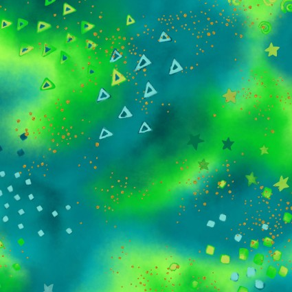 Laurel Burch Basics Glitter dark turquoise