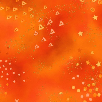 Laurel Burch Basics Glitter dark orange