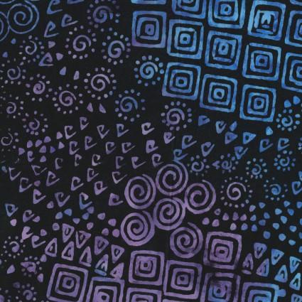 Batik Menagerie Geometric Blue