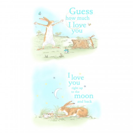 Guess How Much I Love You Panel 24 x 44