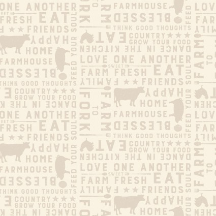 Farmhouse Life Cream Words