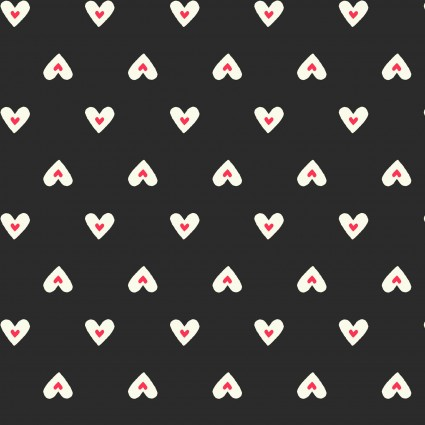 Romance Black with Baby Hearts