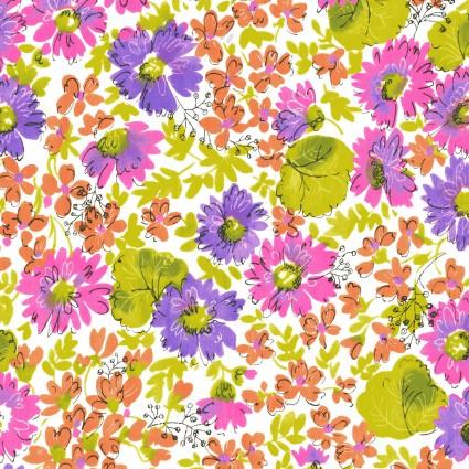 Cassandra Flowers Purple and Orange
