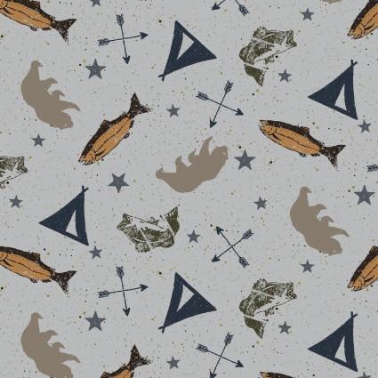 Adventure Awaits-grey fish