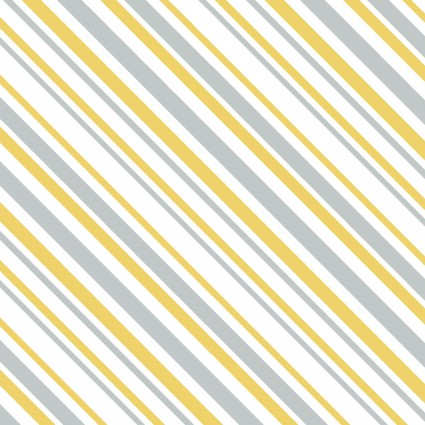 Gray, Yellow, and Creamy White Stripe:  Keep On Truck'n by Anne Was Here for Clothworks