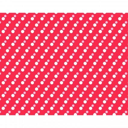 Clothworks Janey by Tanya Whelan - Dots Light - Red