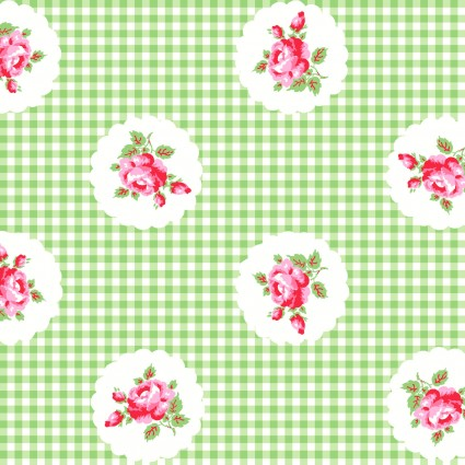 Janey Green with Pink Flowers