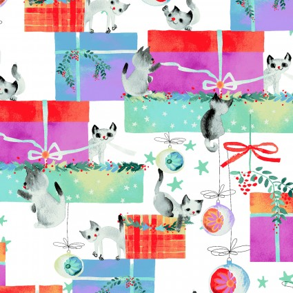Purrfect Christmas-Kitten Gifts-White