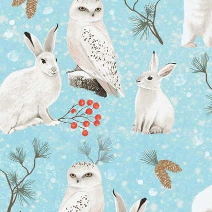 Winter Woodland Critters Teal