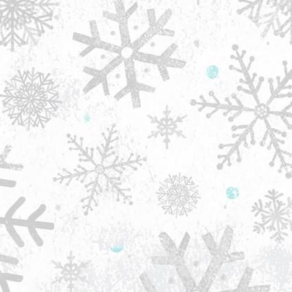 Winter Woodland Snowflakes White