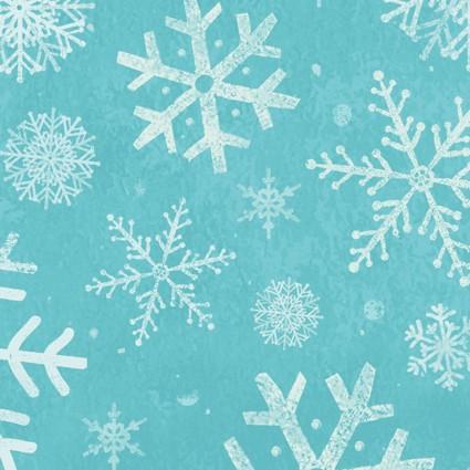 Winter Woodland Snowflakes Teal
