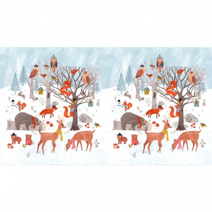 Dreaming of Snow Forest Panel Y2752-1 White