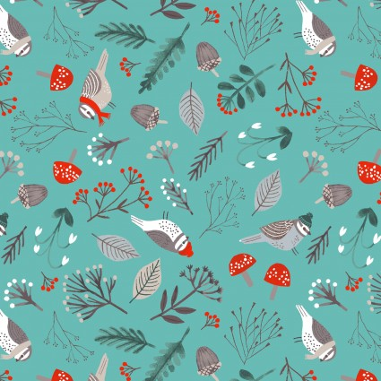 Dreaming of Snow Birds on Teal