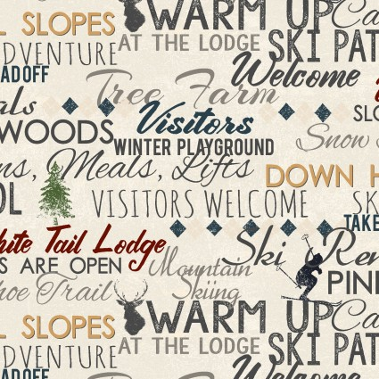 Winter Playground Words Light Khaki