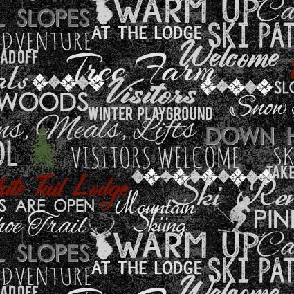 Winter Playground Words Black