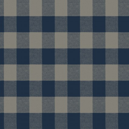 Winter Playground Plaid Dark Denim