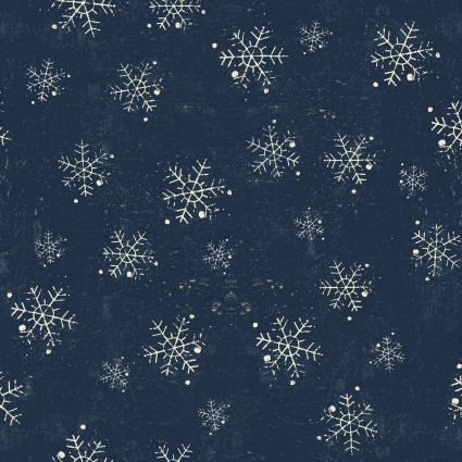 Winter Playground Snowflakes Light Denim