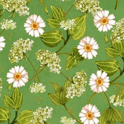 Y2781-24 Zinnias in Bloom