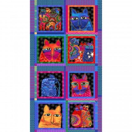Feline Frolic Blocks purple