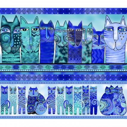 Feline Frolic-Blue Stripe