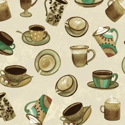 Y2831-12 Khaki Cups Coffee Shop
