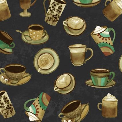 Y2831-7 Black Cups Coffee Shop