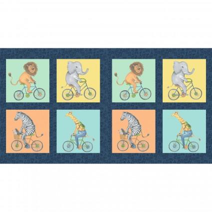 Bike Ride Panel 22 x 24 by Clothworks