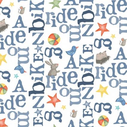 Bike Ride Words White Y2858-1