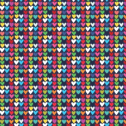 Happy! - Mini Hearts in Navy