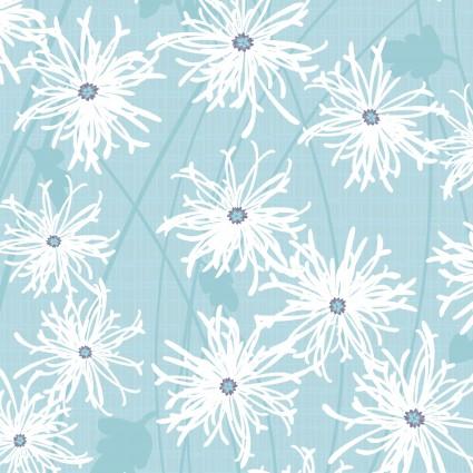 CLOTH- Sunday Afternoon Aqua Daisies