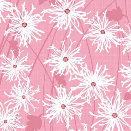 Sunday Afternoon - Daisies in Light Red