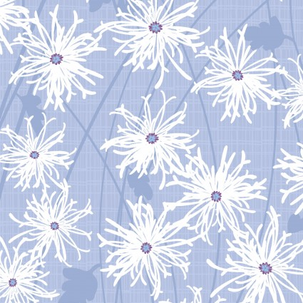 Sunday Afternoon - Daisies in Periwinkle