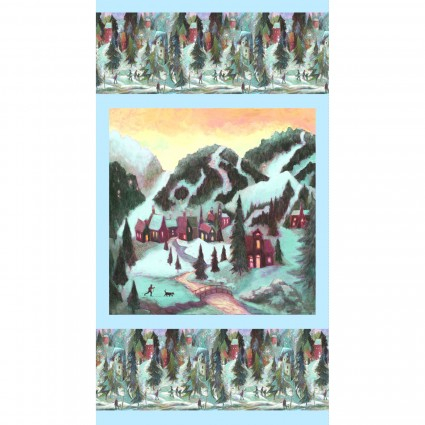 Clothworks Ski Town Panel Y2994-54