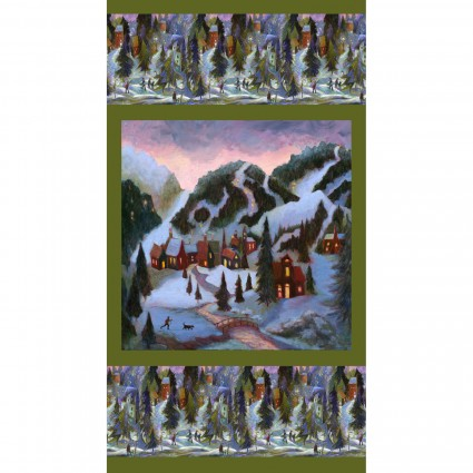 Clothworks Ski Town Panel Y2994-55