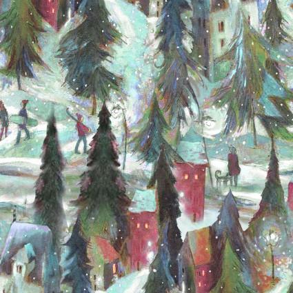Clothworks Ski Town Y2995-54