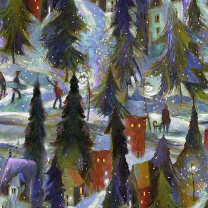 Clothworks Ski Town Y2995-55