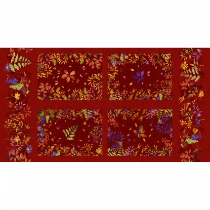 Autumn Air Placemat Panel - Red