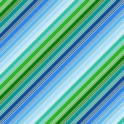 CLOTH- THINGS THAT GO stripe blue/green