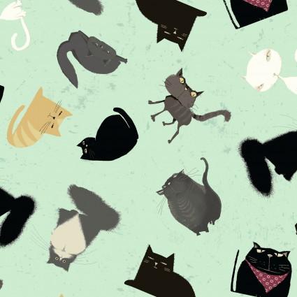 Snarky Cats Kitten Play Light Mint Y3059-109