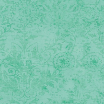 Snarky Cats Damask Tonal Turquoise Y3063-101