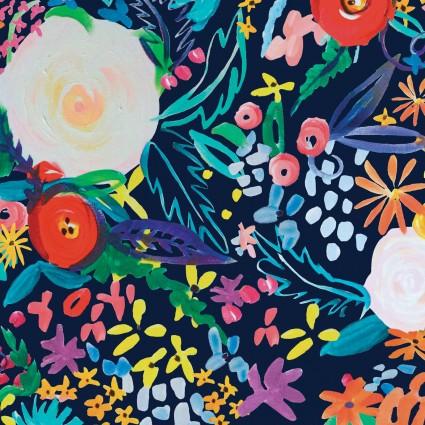 Y3071-53 Clothworks Painted Petals Digital Floral Fete