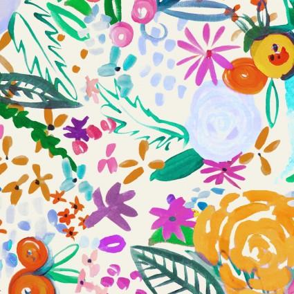 Y3071-57 Clothworks Painted Petals Floral Fete