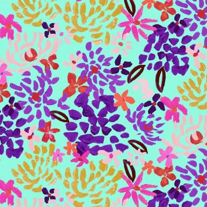 Y3072-32 Clothworks Painted Petals Fall Floral