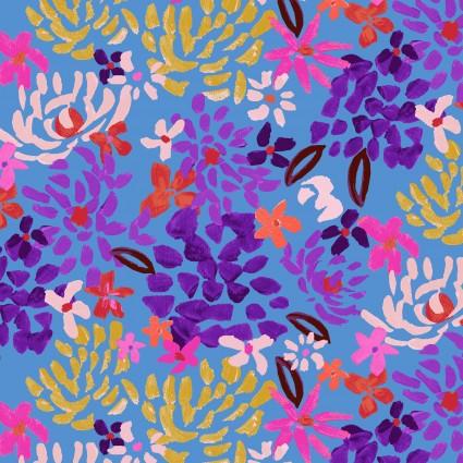 Y3072-90 Clothworks Painted Petals Fall Floral