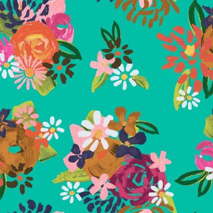 Y3073-101 Clothworks Painted Petals Acrylic Floral
