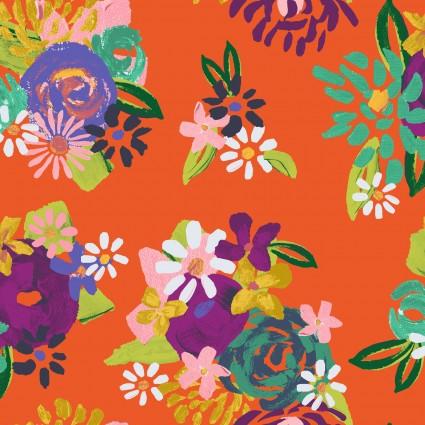 Y3073-37 Clothworks Painted Petals Acrylic Floral
