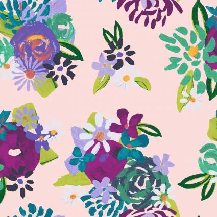 Y3073-41 Clothworks Painted Petals Acrylic Floral