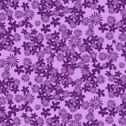 Y3074-44 Clothworks Painted Petals Daisy Field